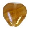 Glass Pressed Beads 10x10mm Heart Khaki